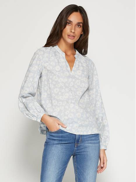 Shirred Popover Top