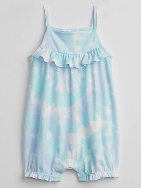 Baby Ruffle Tie-Dye Shorty One-Piece