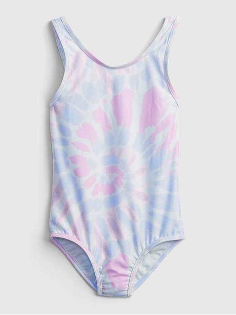 Kids Recycled Tie-Dye Swim One-Piece