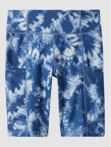 GapFit Teen Recycled Polyester Tie-Dye High-Rise Biker Shorts