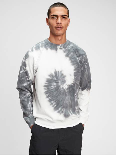 French Terry Tie-Dye Crewneck Sweatshirt