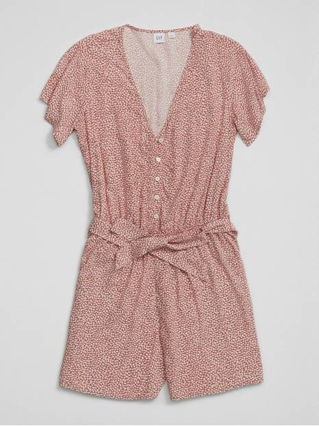 Easy Button-Front Romper